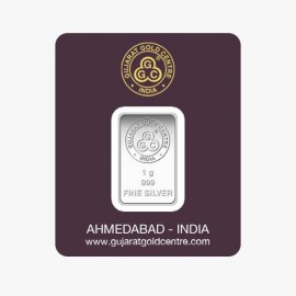 Gujrat Gold Centre Silver Bar Of 1 Gram in 999 24Kt Purity Fineness