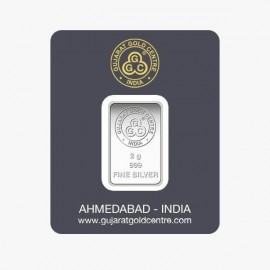Gujarat Gold Centre Silver Bar Of 2 Gram in 999 24Kt Purity Fineness