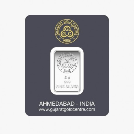 Gujrat Gold Centre Silver Bar Of 2 Gram in 999 24Kt Purity Fineness