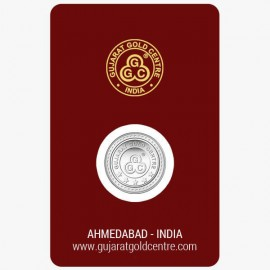 Gujarat Gold Centre Silver Coin Of 1 Gram in 999 24Kt Purity Fineness