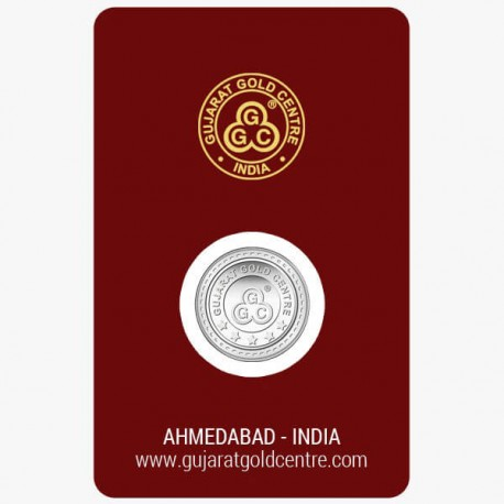 Gujrat Gold Centre Silver Coin Of 1 Gram in 999 24Kt Purity Fineness