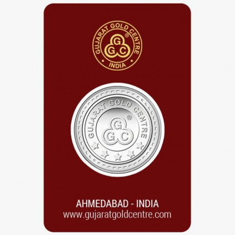 Gujrat Gold Centre Silver Coin Of 5 Gram in 999 24Kt Purity Fineness