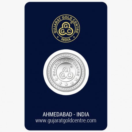 Gujrat Gold Centre Silver Coin Of 10 Gram in 999 24Kt Purity Fineness