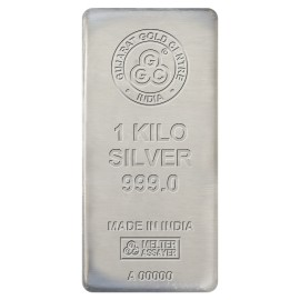 Gujarat Gold Centre Silver Cast Bar Of 1 Kg in 999 24Kt Purity Fineness