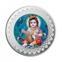 Mohur Color Bal Gopal Silver Coin Of 10 Gram in 999 Purity / Fineness