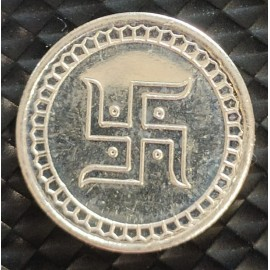 Swastik Silver Coin of 2 Gram in 999 Purity / Fineness -by Coinbazaar