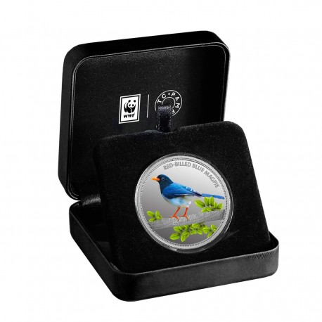 MMTC PAMP The Red-Billed Blue Magpie Silver Coin Of Conserve WWF 2020 Series 1 oz / 31.10 gm 999.9 Purity