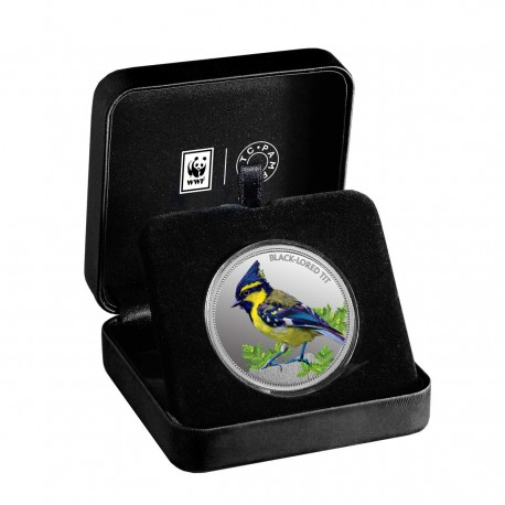 MMTC PAMP The Black-Lored Tit Silver Coin Of Conserve WWF 2020 Series 1 oz / 31.10 gm 999.9 Purity
