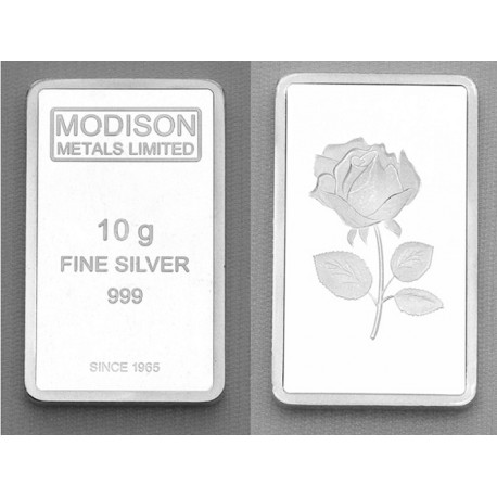 Modison Silver Bar of 10 Grams in 999 Purity /Fineness in Capsule