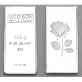 Modison Silver Bar of 100 Grams in 999 Purity /Fineness in Capsule