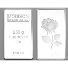 Modison Silver Bar of 250 Grams in 999 Purity /Fineness in Capsule