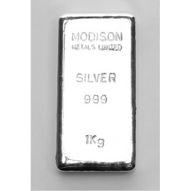 Modison Silver Casted Bar of 1 Kg in 999 Purity /Fineness