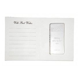 Modison Silver Bar of 100 Grams in 24Kt 999 Purity Fineness in Paper Folder Packing