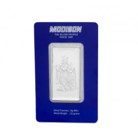 Modison Radha Krishna Silver Bar of 25 Grams in 24Kt 999 Purity Fineness