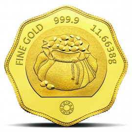MMTC-PAMP Tola Gold Coin of 11.6638 Grams 24 Karat in 999.9 Purity / Fineness in Certi Card