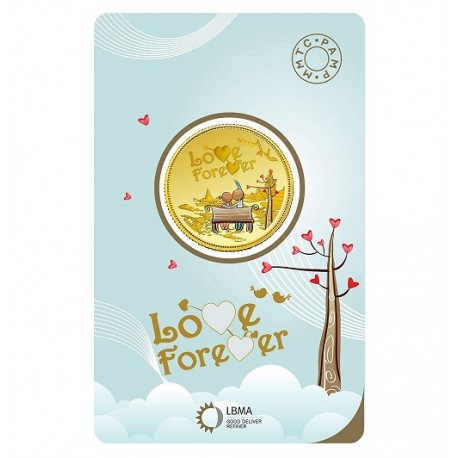 MMTC-PAMP Love Forever Gold Coin of 5 Grams in 24 Karat 999.9 Purity / Fineness