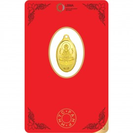MMTC-PAMP Gold Oval Goddess Lakshmi Pendant of 2 Gram in 24 Karat / 999.9 Purity Fineness