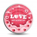 Mohur Color Valentine Silver Coin Of 10 Gram in 999 Purity / Fineness