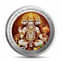 Mohur Color Hanuman Silver Coin Of 20 Gram in 999 Purity / Fineness