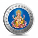 Mohur Color Ganeshji Silver Coin Of 20 Gram in 999 Purity / Fineness