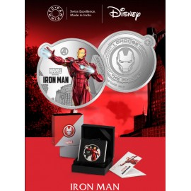 MMTC PAMP Marvel Iron Man Colored Silver Coin 1 oz / 31.10gm in 999.9 Purity