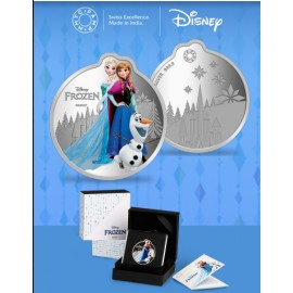 MMTC PAMP Disney Frozen Colored Silver Coin 1 oz / 31.10gm in 999.9 Purity
