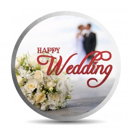 Mohur Color Happy Wedding Silver Coin Of 20 Gram in 999 Purity / Fineness