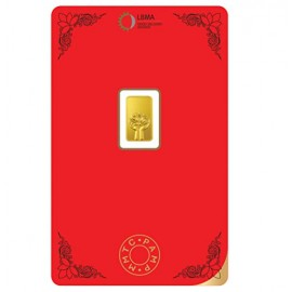 MMTC-PAMP Gold Lotus Bar of 1 Grams 24 Karat in 999.9 Purity / Fineness in Certi Card