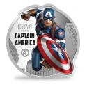 MMTC PAMP Marvel Captain America Colored Silver Coin 1 oz / 31.10gm in 999.9 Purity