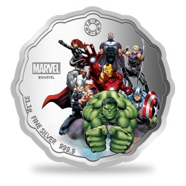 MMTC PAMP Marvel Avengers Power Colored Silver Coin 1 oz / 31.10gm in 999.9 Purity