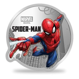 MMTC PAMP Marvel Spider Man Colored Silver Coin 1 oz / 31.10gm in 999.9 Purity