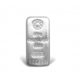 MMTC-PAMP Ingot Silver Casted Bar Of 500gm in 24 Karat 999.9 Purity / Fineness