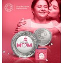 MMTC PAMP Silver Coin LOVE YOU MOM of 20 Gram in 999.9 Purity / Fineness