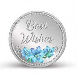 MMTC PAMP Best Wishes Colorful Silver Coin of 20 Gram in 999.9 Purity / Fineness