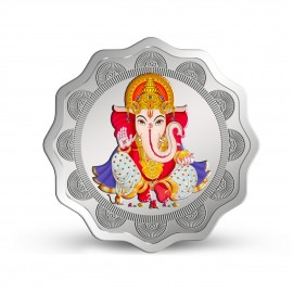 MMTC PAMP Colorful Lord Ganesha Coin 2021 Edition of 20 Gram in 999.9 Purity / Fineness