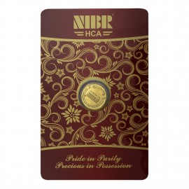 NIBR Gold coin of 1 Grams in 24Kt 995 Purity / Fineness - 1 gm / 1 gram