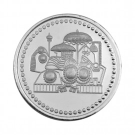 Vaishno Devi Silver Coin of 10 Gram in 999 Purity / Fineness by Coinbazaar