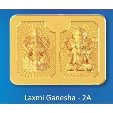 Laxmi Ganesh Panchdhatu Coins Fusion of Gold Silver Copper Tin and Zinc