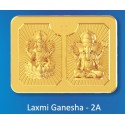 Laxmi Ganesh Panchdhatu Bar Fusion of Gold Silver Copper Tin and Zinc By Gianna Art