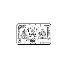 Laxmi Ganesh Silver Note of 5 Gram in 999 Purity / Fineness