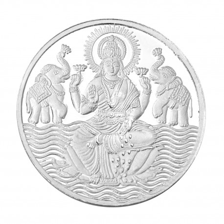 RSBL Silver Coin 50 Grams Shree Lakshmi / Laxmi Coin - 50 gm / 50 gmsb 24Kt