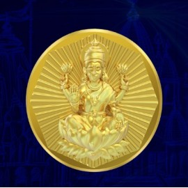 Laxmi Panchdhatu Coins Fusion of Gold Silver Copper Tin and Zinc