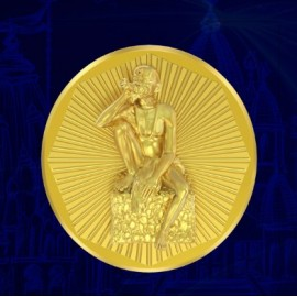 Gajanan Maharaj Panchdhatu Coins Fusion of Gold Silver Copper Tin and Zinc By Gianna Art