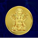 Ganesha Panchdhatu Coins Fusion of Gold Silver Copper Tin and Zinc by Gianna Art