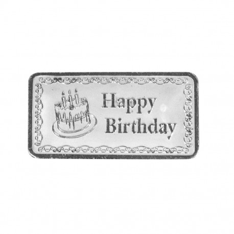 Happy Birthday Silver Note Of 20 Gram in 999 Purity