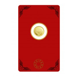 MMTC-PAMP Gold Coin of 1 Grams 24 Karat in 9999 Purity / Fineness