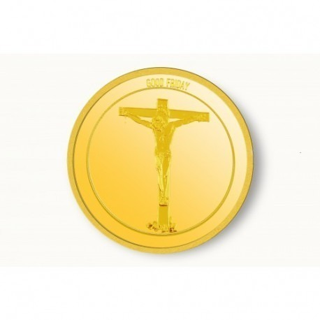 IBJA Christain Festival Good Friday Gold Coin of 5 Gram 24Kt in 995 Purity / Fineness