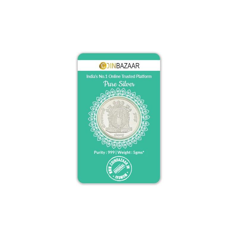 Buy Goddess Mahalakshmi Prasanna Silver Coin Of 5 Gram In