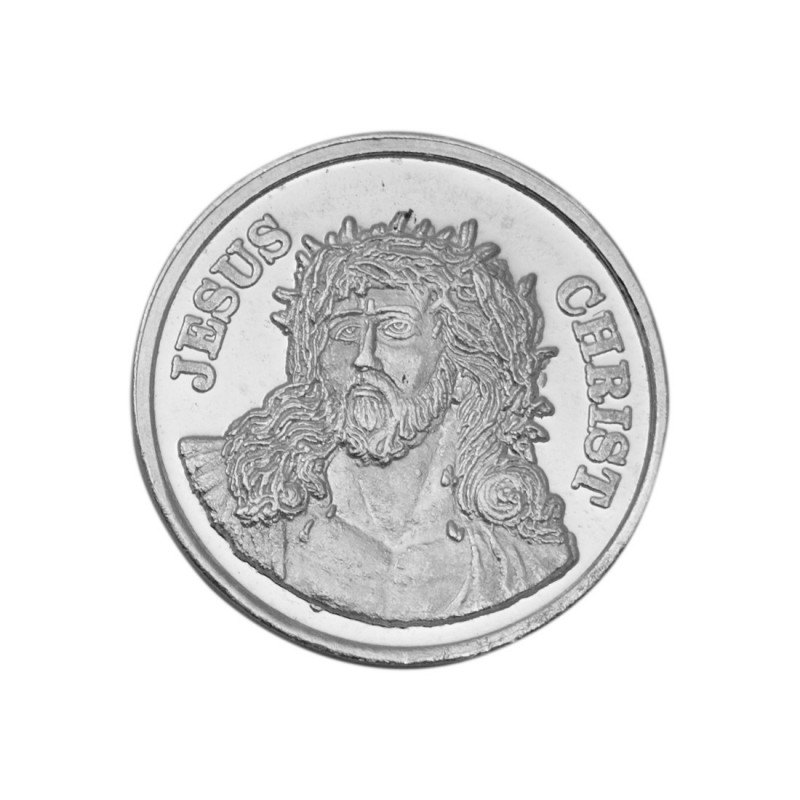 Buy Jesus Christ Silver Coin Of 10 Gram In 999 Purity