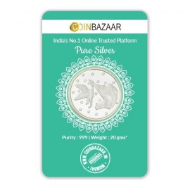 New Born Baby Silver Coin of 20 Gram in 999 Purity / Fineness